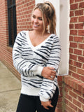 Wild For Love Sweater in Ivory/Black