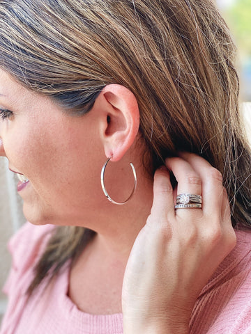 Classic Hoop Earrings in Silver