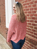 Never A Bad Day Sweater in Pink/ Multi