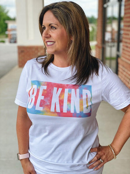 Be Kind Tie Dye Top