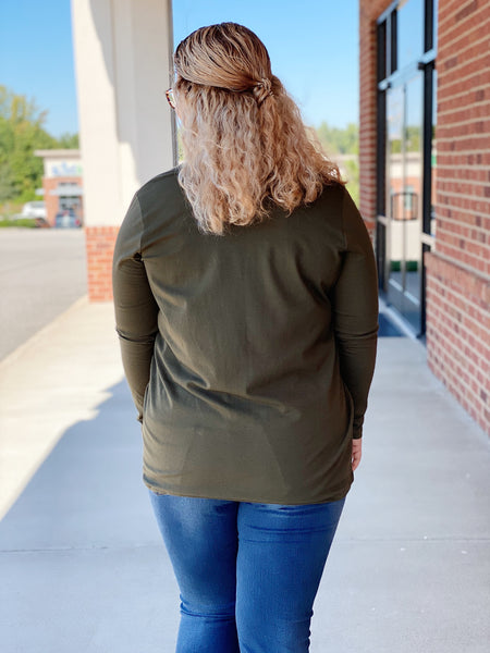 The Grace Top in Olive