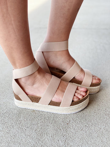 Cabo Sandals in Nude