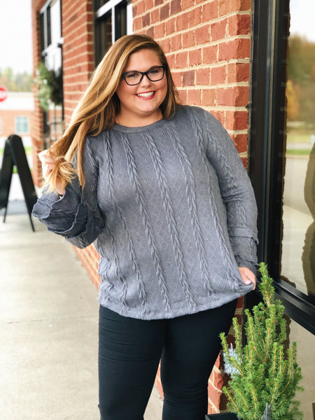 Get Your Attention Sweater in Grey