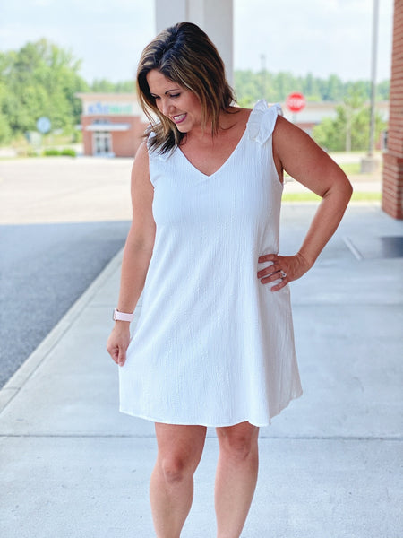 The Wynter Dress in Off-White