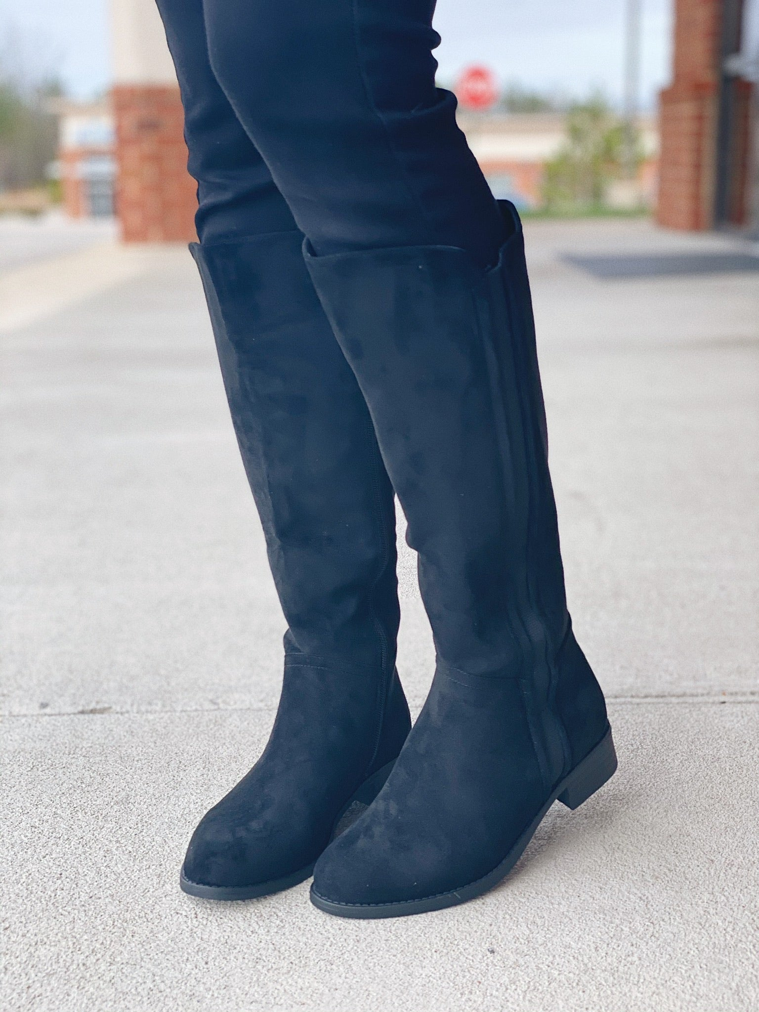 The Trixie Tall Boot in Black