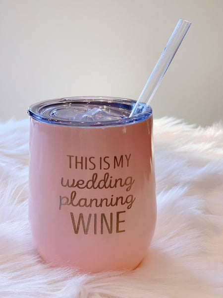 Swig Wedding Planning 12oz Stemless Wine Cup