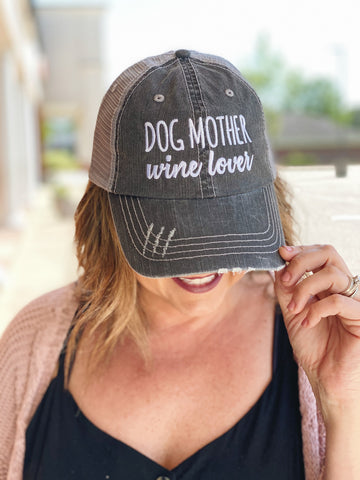 Dog Mother Wine Lover Trucker Hat