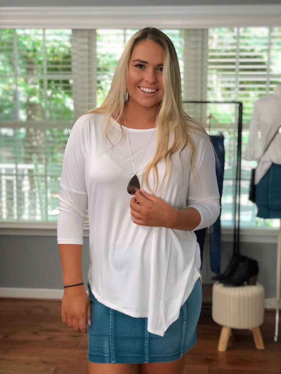 Be Your Best White Dolman Top