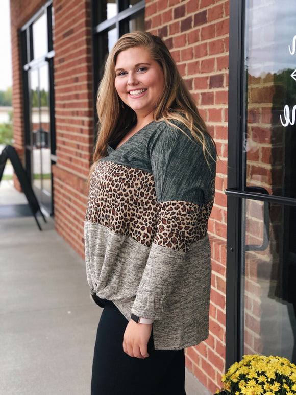 Find Something Special Top in Leopard/Multi