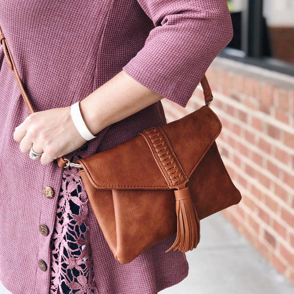 It's A Date Clutch In Brown