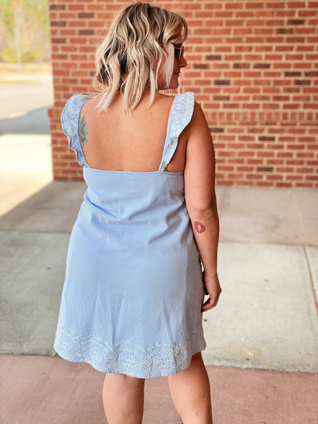 The Carolyn Dress in Baby Blue