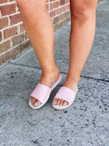 The Vacation Sandal in Blush
