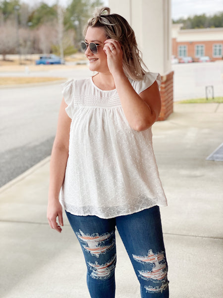 The Beth Top in Ivory