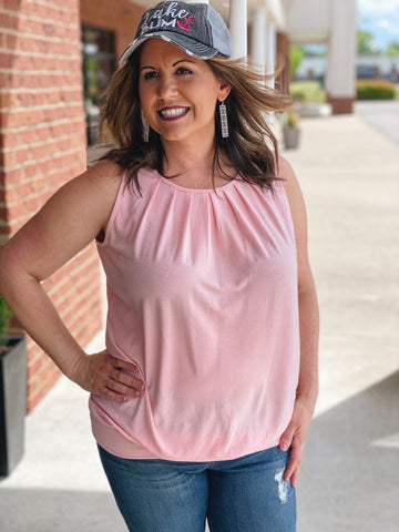 The Michelle Tank in Dusty Pink