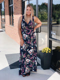 Share the Love Wrap Dress in Navy Floral