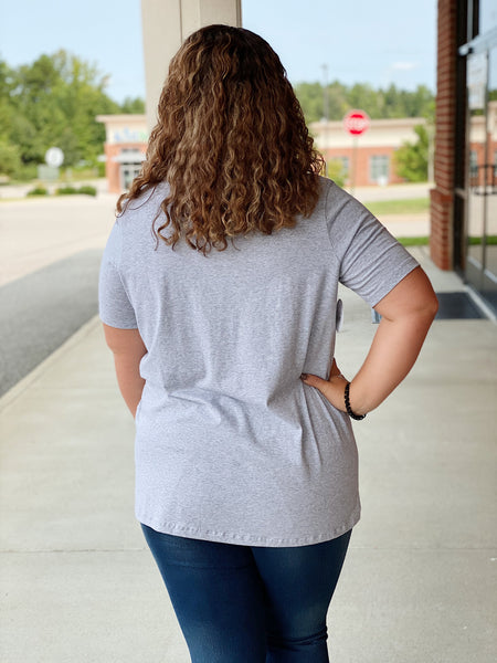 The Melissa Top in Heathered Grey