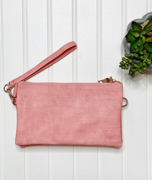 The Riley Crossbody/Wristlet in Pink