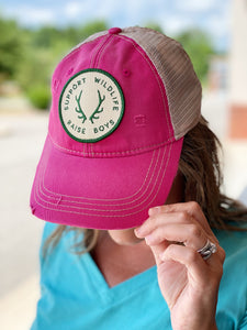 """Support Wildlife"" Hat in Fuchsia"