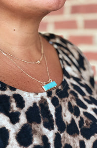 Set The Bar High Turquoise Necklace