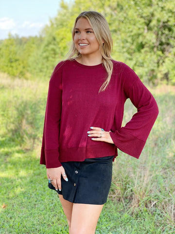 The Nina Top in Wine