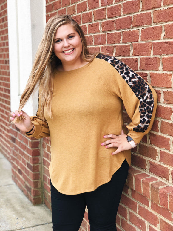 Call Of The Wild Leopard Sweater in Mustard