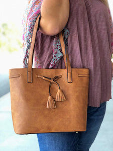 The Night Is Young Handbag In Camel