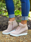 Slip On Perforated Sneakers in Blush