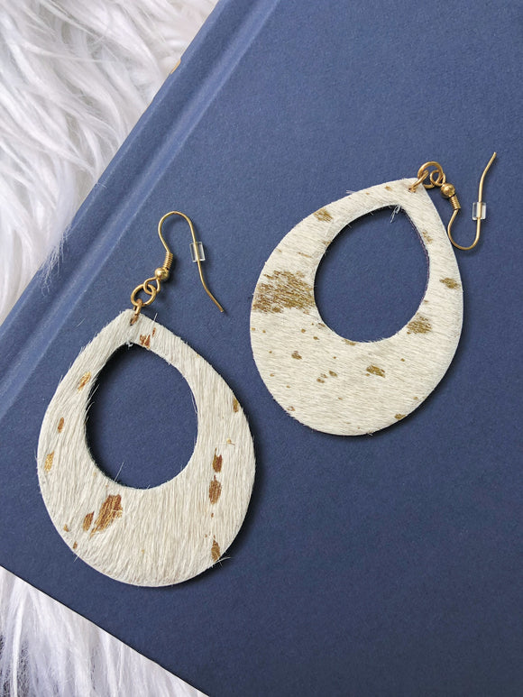 Party Girl White Gold Foil Earrings