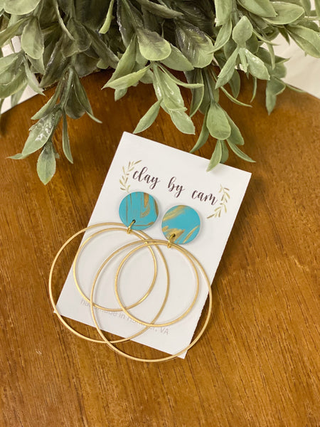Clay by Cam Turquoise Hoops