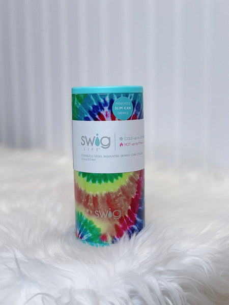 Swig 12oz Swirled Peace Can Cooler