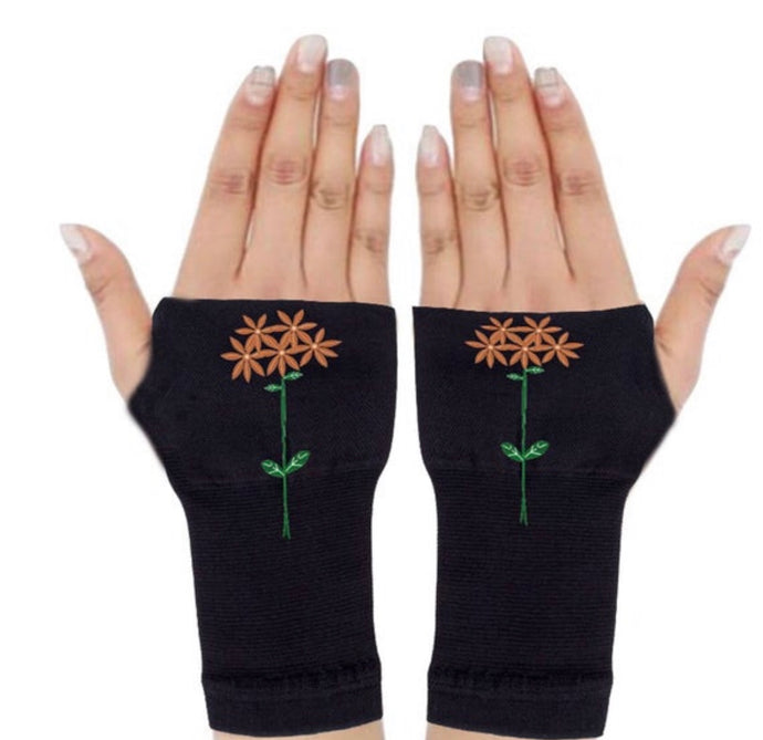 Mystical Flower Arthritis Compression Gloves