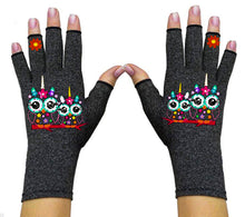Load image into Gallery viewer, Fingerless Gloves for Arthritis - Arthritis Gloves with Compression - Wrist Wrap - Two Owls
