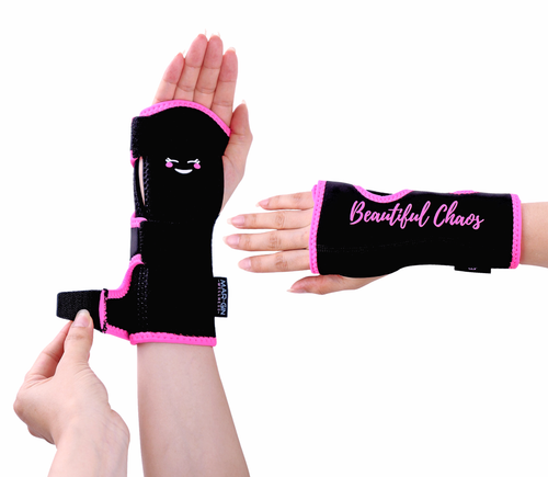 SOLD OUT!  Carpal Tunnel Relief Wrist Brace - Fun Pink