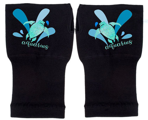 Aquarius Zodiac Fingerless Gloves -Compression Gloves - Gloves Womens - Arthritis Gloves -  Carpal Tunnel Gloves - Wrist Warmer
