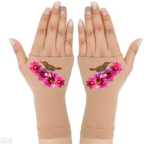 Load image into Gallery viewer, Fingerless Gloves for Arthritis - Arthritis Gloves with Compression - Wrist Wrap - Wrist Support - Bouquet