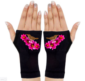 Fingerless Gloves for Arthritis - Arthritis Gloves with Compression - Wrist Wrap - Wrist Support - Bouquet