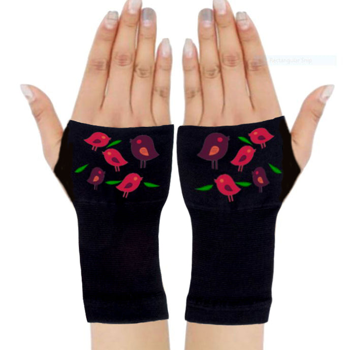 Arthritis  Gloves - Carpal Tunnel Treatment - Wrist Support - Hand Brace - Birds Fall