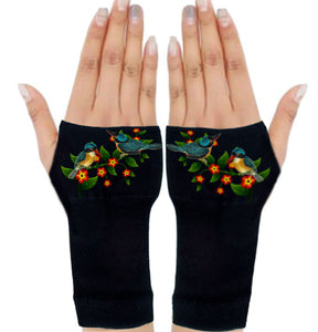 Fingerless Gloves for Arthritis - Arthritis Gloves with Compression - Wrist Wrap - Wrist Support - Vines