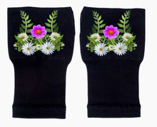 Load image into Gallery viewer, Gloves Arthritis  Hands - Arthritis Compression Gloves - Fingerless Compression Gloves - Daisy Foliage