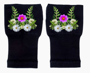Gloves Arthritis  Hands - Arthritis Compression Gloves - Fingerless Compression Gloves - Daisy Foliage