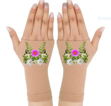 Load image into Gallery viewer, Arthritis  Gloves - Carpal Tunnel Treatment - Wrist Support - Hand Brace - Daisy Foliage