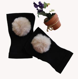 Arthritis  Gloves - Carpal Tunnel Treatment - Wrist Support - Hand Brace - Fur Ball Blond