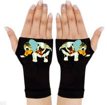 Load image into Gallery viewer, Fingerless Gloves & Wrist Support  Arthritis -  Carpal Tunnel Treatment - Butterfly Print Elephant