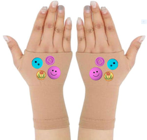 Fingerless Gloves & Wrist Support  Arthritis -  Carpal Tunnel Treatment - Buttons