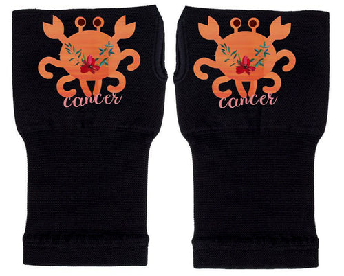 Cancer Zodiac Fingerless Gloves -Compression Gloves -Gloves Womens - Arthritis Gloves -  Carpal Tunnel Gloves - Wrist Warmer