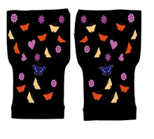 Load image into Gallery viewer, Fingerless Gloves Women Arthritis Gloves - Carpal Tunnel Gloves - Crafters Gloves  Compression Gloves - Conffetti