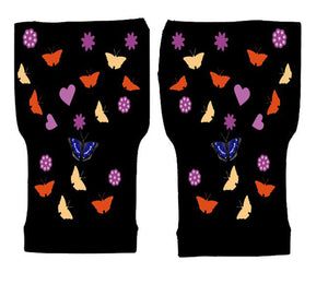 Fingerless Gloves Women Arthritis Gloves - Carpal Tunnel Gloves - Crafters Gloves  Compression Gloves - Conffetti