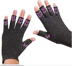 Fingerless Gloves for Arthritis - Arthritis Gloves with Compression - Dainty Butterfly
