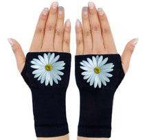 Load image into Gallery viewer, Gloves Arthritis  Hands - Arthritis Compression Gloves - Fingerless Compression Gloves- Elegant Daisy