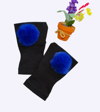 Load image into Gallery viewer, Arthritis  Gloves - Carpal Tunnel Treatment - Wrist Support - Hand Brace - Fur Ball Royal Blue Pair